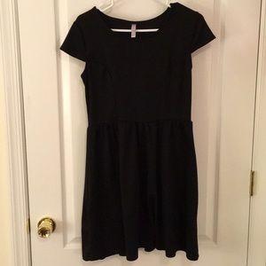Ponte knit black dress